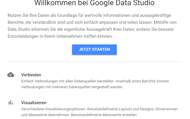 Screenshot Google Data Studio